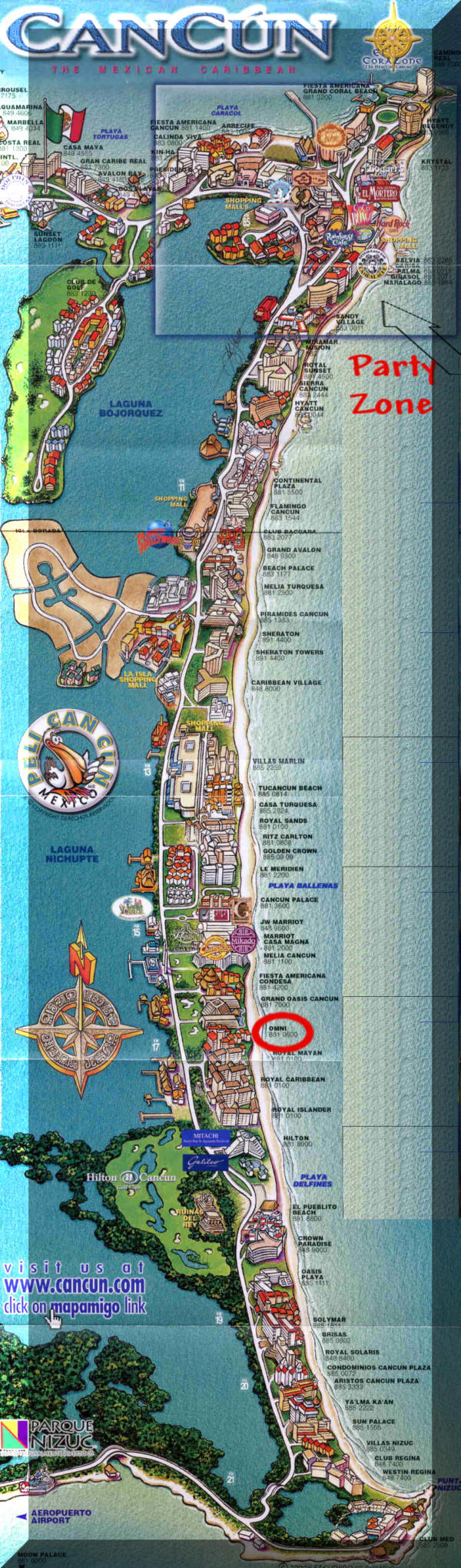Cancun – Cancun Tourist Map