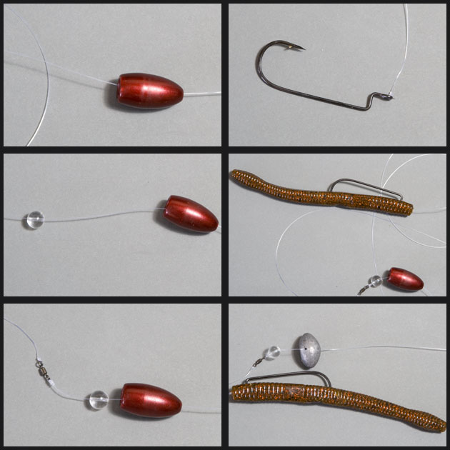 How to tie a carolina rig for bass fishing plastics