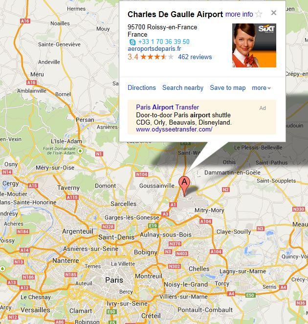 Paris - Paris things to do map