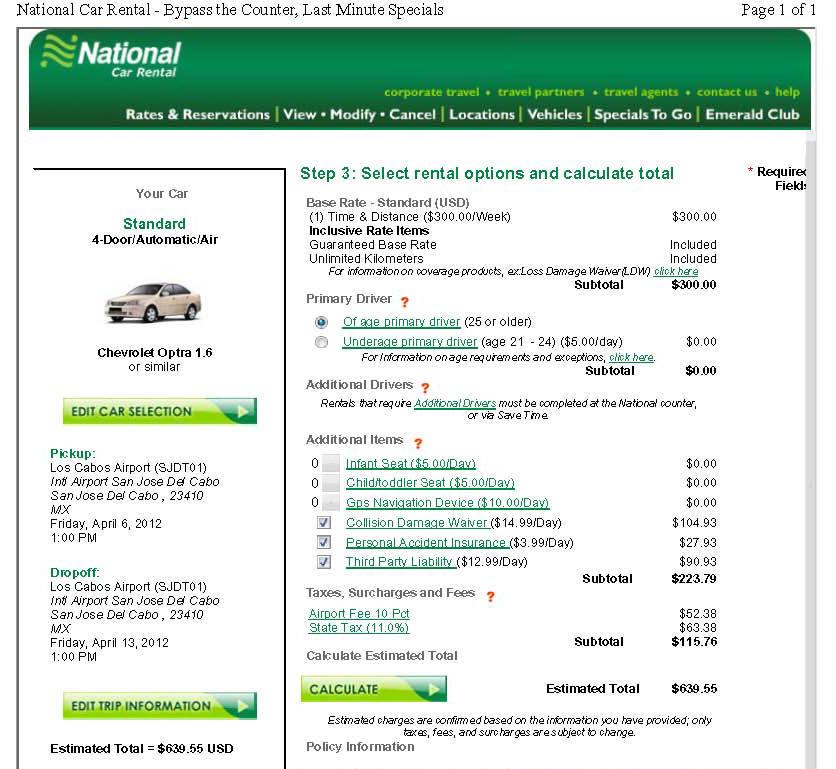 Fox car rental mexico insurance 14