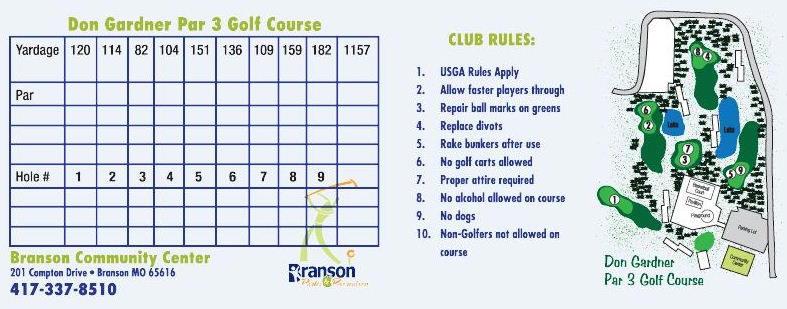 Branson for Gardner golf course